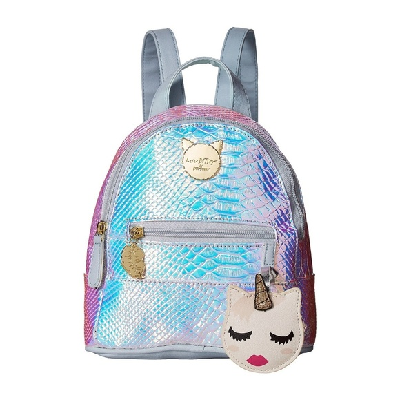 f822c65a9a8 Betsey Johnson Bags | Luv Betsey Iridescent Mini Backpack Nwt | Poshmark